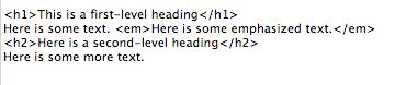 Simple HTML