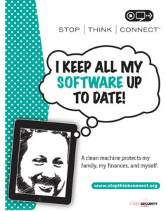 Poster from Stop.Think.Connect. security initiative